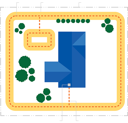Electric Dog Fence Yard Diagram